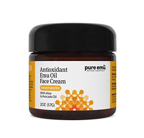 PURE EMU Antioxidant Face Cream With Pure, Fully Refined Emu Oil | Rich, Non-Greasy Moisture For Radiant, Younger-Looking Skin| Nature's Greatest Moisturizer, 2 fl oz