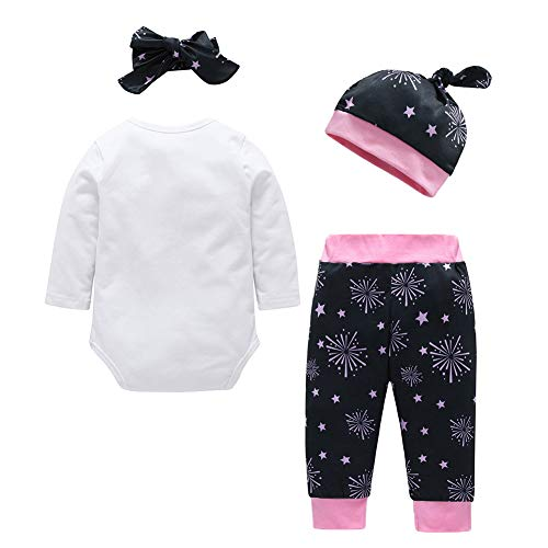Chinatera Baby Boys Girls Clothes New Year 2019 Romper+Pants+Hat+Headband Outfit Set by Chinatera (Image #1)