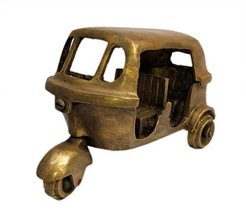 Amazon Com Laxman Art Vintage Brass Showpiece Decorative Antique Passenger Tempo Model Auto Rickshaw For Gift Items And Decoration Purpose Home Interior Decor Item Handmade