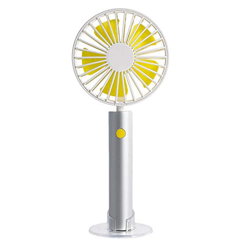GOVOW-Tech Small Fans Electric for Women & Children Hand-held Removable Aluminum Tube Cooling Silence Portable Charging Small Fan