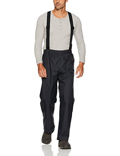 Columbia Men's PFG Storm Bib Pant, Black, Mediumx30 Columbia Waterproof Breathable Storm Pant