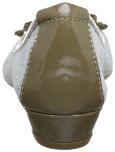CAFèNOIR DB601 - Bailarinas de cuero para mujer Multicolor (Mehrfarbig (1818 GHIACCIO/TAUPE 1818 GHIACCIO/TAUPE))