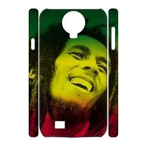 3D [Musics] Bob Marley Case for Samsung Galaxy S4 {White}