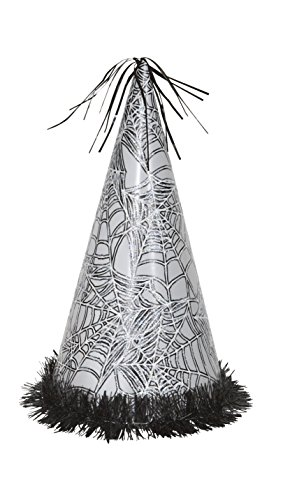 13'' Jumbo Silver Spider Web Halloween Party Hat Centerpiece Decoration by Unique