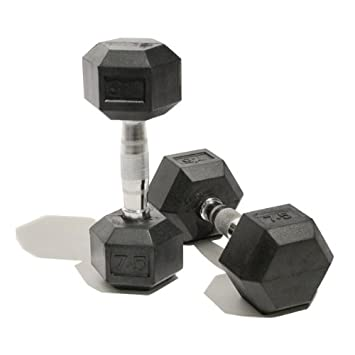 Bodymax Rubber Hex Dumbells - Mancuerna de 10kg, color plateado: Amazon.es: Electrónica