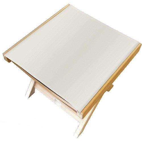 (Royal Teak Collection FRWS Teak Sling Footrest, White)