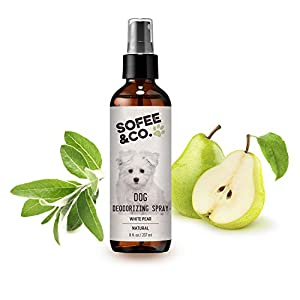 Sofee & Co. Natural Dog Puppy Deodorizing Grooming Spray Perfume Cologne - Odor Control Refresher. Groomer's Choice. Freshen Coats. Eliminate Odors. Use On Pets Bedding Furniture Room. Deodorant 3
