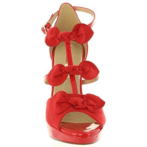 67136 Maria Mare Rojo Mujer Sandalias Hombre zwarzq