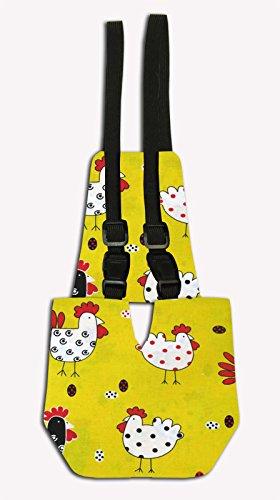 "Chicken Diaper - Yellow Chickens Pattern (Small: 5"" - 7"")"
