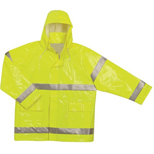 Brite Safety Style 5212 FR Safety Raingear - Hi Vis Jacket, Safety Jackets For Men Waterproof & Fire Resistant With High Visibility Hoodie, ANSI 107 Class 3 Compliant (XL, Hi Vis Yellow) by Brite Safety (Image #2)