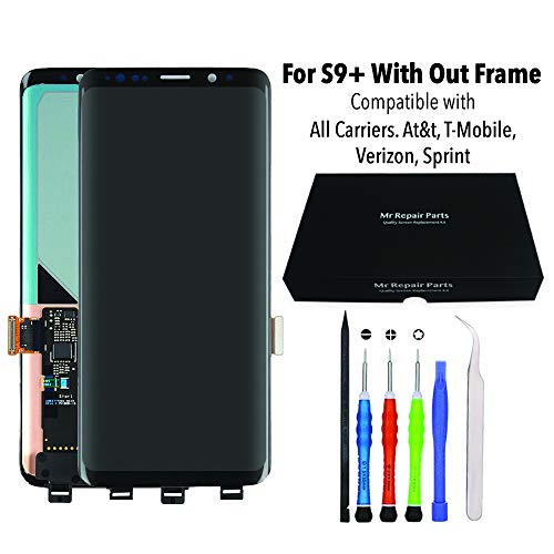 - for Samsung Galaxy S9 Plus LCD Screen Replacement Display Touch Digitizer Assembly + Repair Tools, Compatible with All Carriers At&t, T-Mobile, Verizon, Sprint
