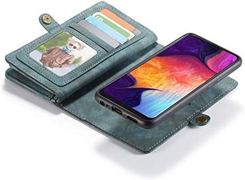 Felfy 11 Kartenf/ächer Kompatibel mit Galaxy A70 H/ülle Leder Flip Case,Kompatibel mit Galaxy A70 Handyh/ülle Multifunktionale Lederh/ülle Tasche mit Rei/ßverschluss Brieftasche Schutzh/ülle,Braun