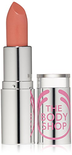The Body Shop Color Crush Shine Lipstick, Nude Allure, 0.12 Ounce
