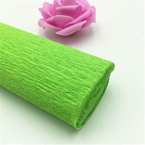 Water Hep Crepe Paper 25050cm Decorative Origami Crinkled Crepe Paper Craft DIY Flower Wrapping Fold Scrapbooking Gifts Party Decoration(Green) ()