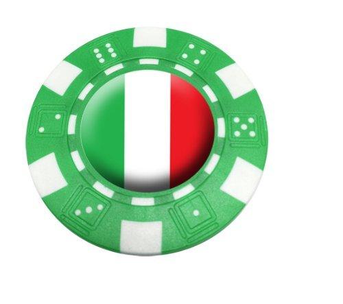 ITALY POKER CHIP GOLF BALL MARKER by Asbri by Asbri