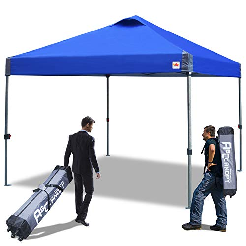ABCCANOPY 10×10 Pop Up Canopy Portable Shade Popup Canopy Outdoor Instant Folding with Wheeled Carry Bag, Blue Review