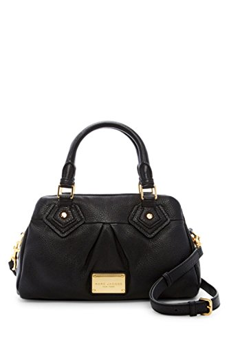 Marc by Marc Jacobs Small Groovee Leather Satchel Handbag (Black)