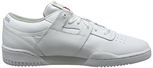 Scarpe Fitness White Reebok Grey 000 Uomo da Bianco Low Workout Int wFnIqHAIEx