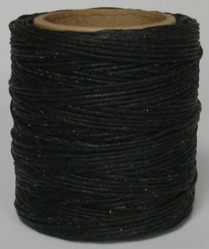 Maine Thread - .040 Black Waxed Polycord. 210 feet each. Includes 2 spools.