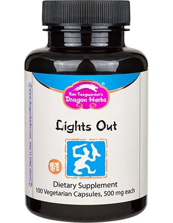 Dragon Herbs - Lights Out - 500 mg - 100 Vegetarian Capsules - Sleep Aid, All Natural, Non-Habit Forming