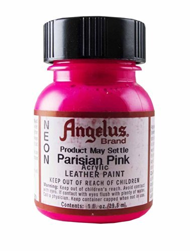 Springfield Leather Company's Parisian Pink Neon Acrylic Leather Paint]()
