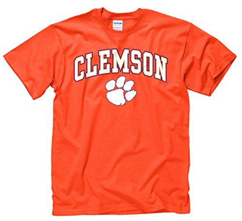 Campus Colors Clemson Tigers Adult Arch & Logo Gameday T-Shirt - Orange, X-Large -
