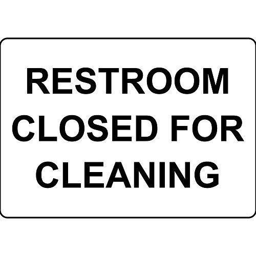 (Restroom Closed for Cleaning 8x12 inch Aluminum Metal Sign Tin)