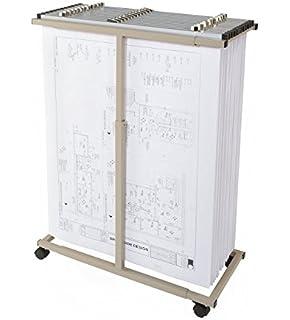 Amazon adir corp mobile vertical plan center for blueprints brookside design mvpc heavy duty vertical blueprint storage mobile plan center malvernweather Images
