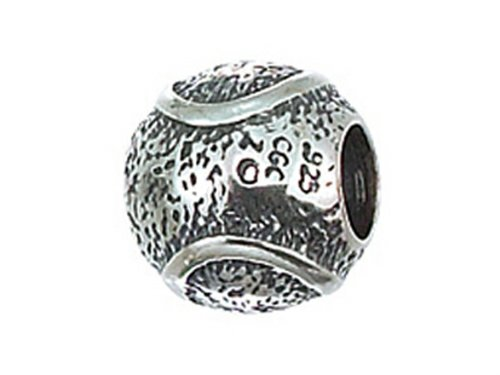 (Zable Sterling Silver Tennis Ball Bead / Charm)
