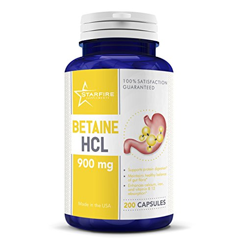 Starfire Supplements Betaine HCL 900mg 200 Capsules