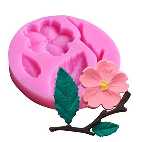 Slendima 2.20'' x 0.39'' Silicone Peach Blossom DIY Fondant Cake Mold Kitchen Decorating Baking Tool by Slendima (Image #3)