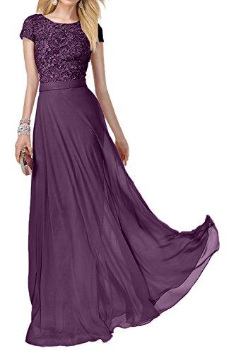 Bodenlang Braut Neu La Rot Chiffon Abendkleider Partykleider Spitze Glamour Brautmutterkleider Dunkel Traube Marie CgxHxwqB
