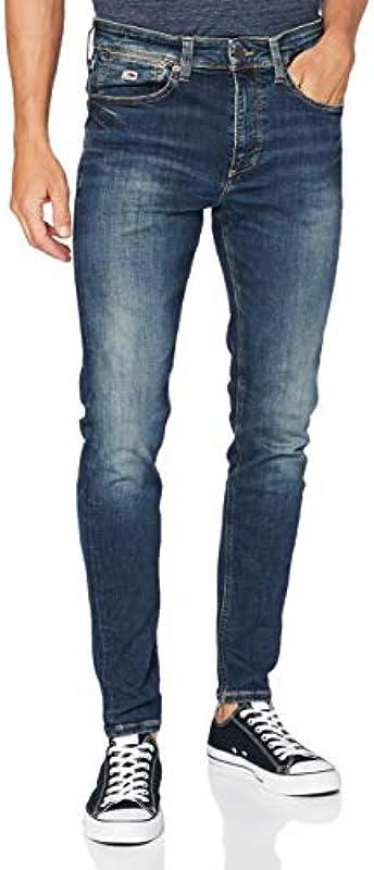 Tommy Jeans Miles Skny Dndbst spodnie męskie (Miles Skny Dndbst), kolor: Denim Not Applicable, rozmiar: 34W / 30L: Odzież