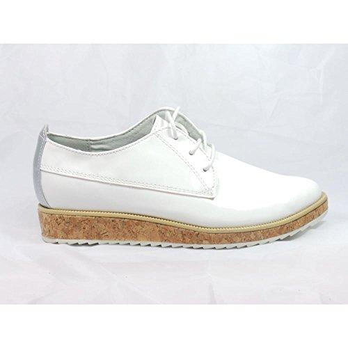 Marco Tozzi - Zapatos de cordones para mujer blanco blanco