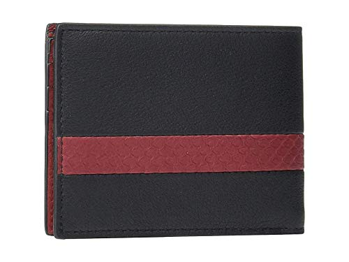 Salvatore Ferragamo Men's Block Color Bifold Wallet - 66A439 Black One Size