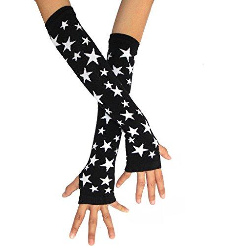 ColorFino Fingerless Arm Warmers Fingerless Gloves Cosplay Gloves