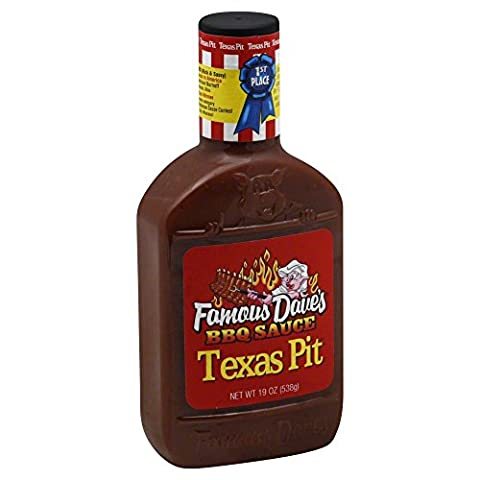 Famous Daves-BBQ Sauce Texas Pit 19.0 OZ(Pack of 2) (Famous Daves Texas Pit)