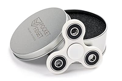 Fidget Spinner - Triune Spinner by Pocket Fidget - HIGH SPEED Si3N4 Ceramic Bearing, Fast EDC Fidget Toy for Increased Focus, Stress Relief, ADHD, Autism, and Anxiety. by Pocket Fidget