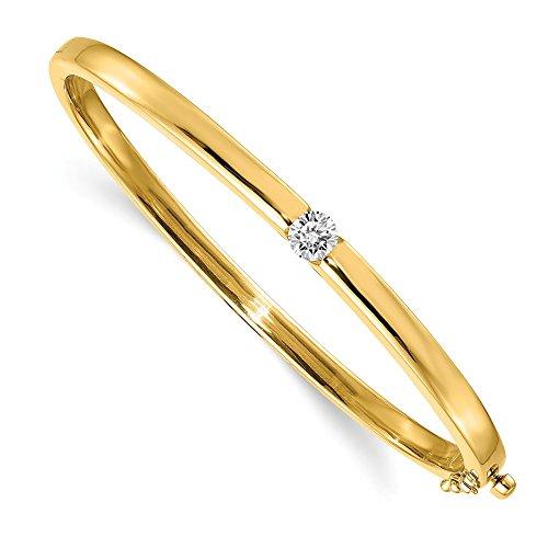 Jewelry Adviser Bangle Bracelets 14k VS Diamond bangle Diamond quality VS (VS2 clarity, G-I color)