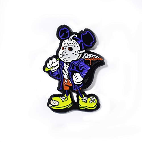Jason Voorhees Mickey Friday The 13th Horror Movie Pendant Lapel Hat -