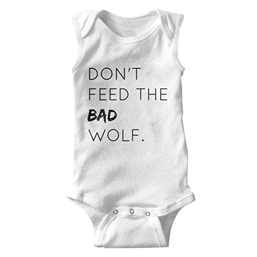 Don't Feed The Bad Wolf Baby Boy Girl Cotton Sleeveless Baby Onesie Baby -