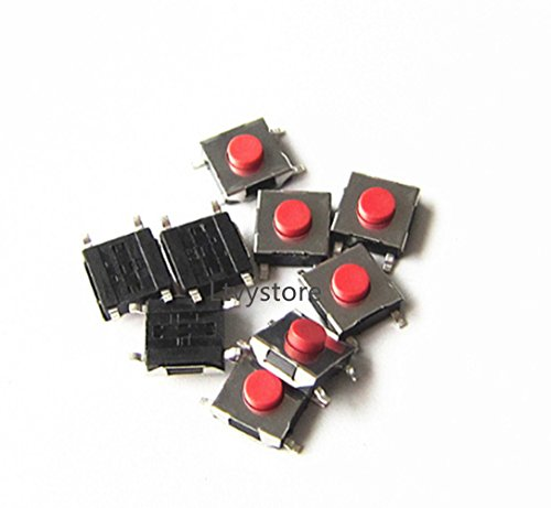 Ltvystore 250PCS 25Value Tactile Tact Push Button Switch Micro Switch Car Remote Control Button Switches SMD DIP Assortment Kit Setwith Clear Plastic Box