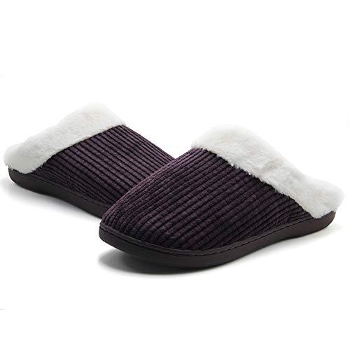 Home Inverno Morbido Antiscivolo Uomo Pantofole Donne Marrone Casa Caldo Donna Per Meayou Cotone Uomini Peluche Scarpe Leggero Pattini EwFdqxn