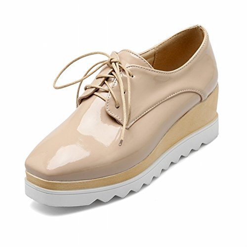 EUR34 Shoes Color Boots Square Women's the apricot Shoes Head 5 Mouth Shallow with Fight Fashion zwwP4OqYr