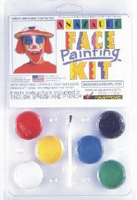 (6 COLOR CLAM PACK PALLET Snazaroo Face Painting Pallet)