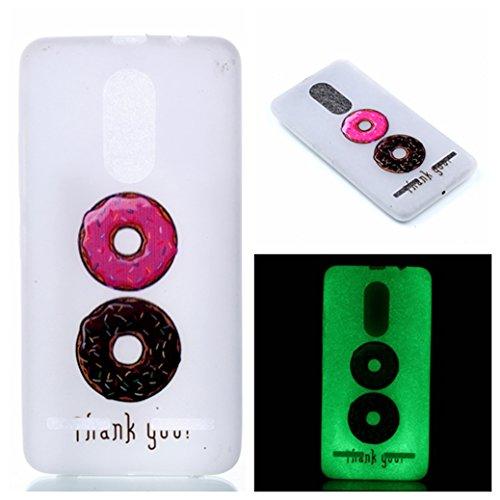 Funda Lenovo K6 AllDo Carcasa de Silicona Luminoso Brillar en Oscuridad Caja Caucho Translúcido Carcasa Liso Peso Ligero Funda Diseño de Patrones Impresos Caja Suave Flexible Carcasa Resistente a Los  Doughnuts Deliciosos