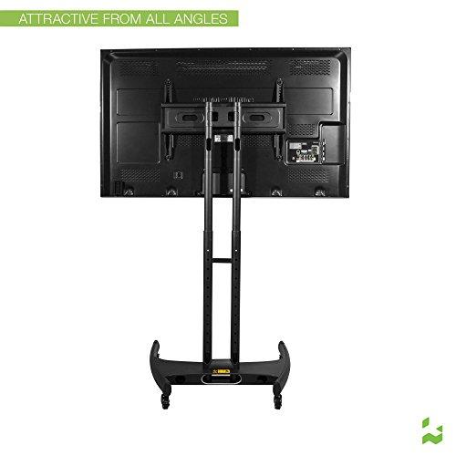 kanto mtm65 mobile tv stand with mount for 37 to 65 inch flat panel screens black buy online. Black Bedroom Furniture Sets. Home Design Ideas