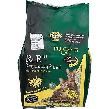 Precious Cat Respiratory Releif Clay Premium all Natual Cat Litter with Herbal Essences, My Pet Supplies