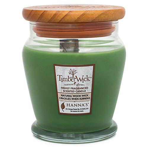 Hanna's Candle Company 100463 Timber Wick Candle with Wooden Lid, 9.25-Ounce, Pine - Hannas Candle