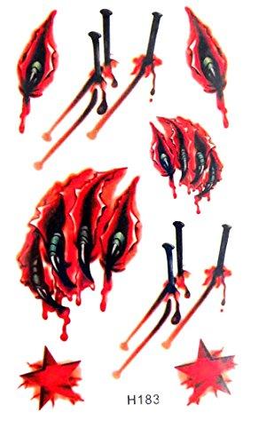 vampire bite blood Halloween temporary tattoo wholesale (Fake Vampire Bites For Halloween)